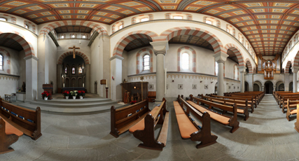 Virtuelle 360 Tour der Pfarreikirche St. Georg